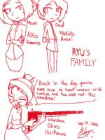 Ryu's Family - Doodles by MoonlightWolf17