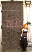a Girl and a Door by tomsky