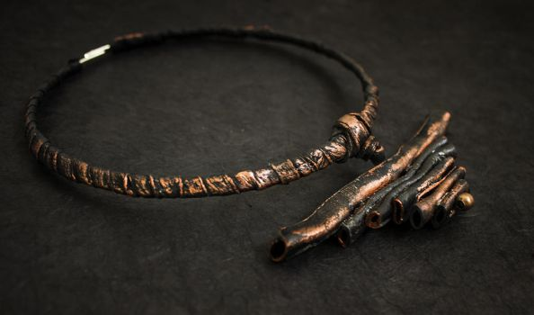 Tribal style leather necklace by julishland