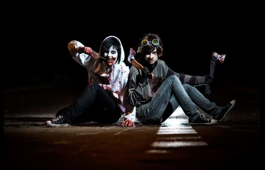 Jeff The Killer  and Ticci Toby by VultureImagination