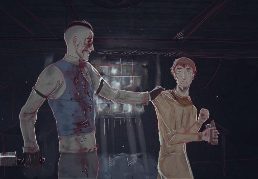 Outlast Whistleblower (Eddie Gluskin and Waylon) by AnnoDS