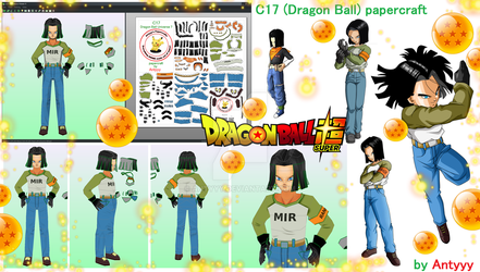 C17 (Dragon Ball) papercraft by Antyyy