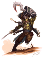 Orc Pirate! Y'arrr! by foxinsoxx