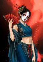 Commission: Kuni Sango by AireensColor