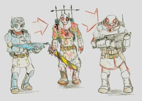 Evolution of a Soldier by Drawbba-The-Hutt