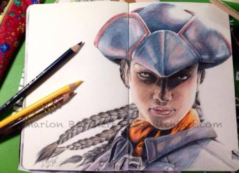 Moleskine Drawing by WitchiArt