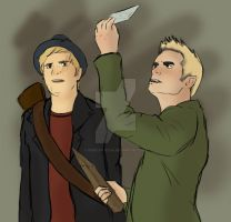 Pete and Patrick - Hunters by Rebecca-Ecka