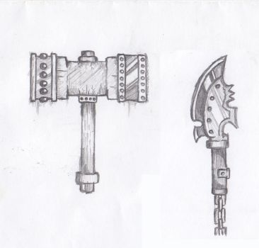 Slime Hammer  and chain knife by bstanziola