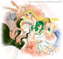 Sailor Senshi Group (outer with Serenity) by SilverSerenity1983