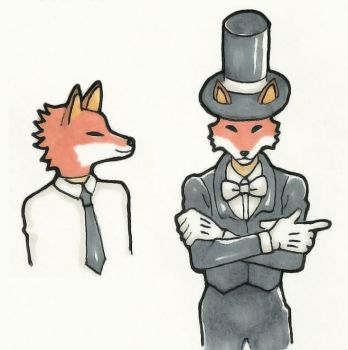 Fancy Fox by mslckitty