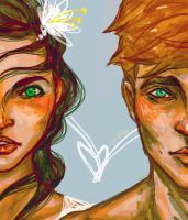 Finnick and Annie by Ospreyghost13