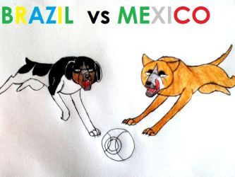 Brazil vs Mexico by yugiohfreakXD