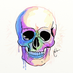 Colorful Skull by mnetto