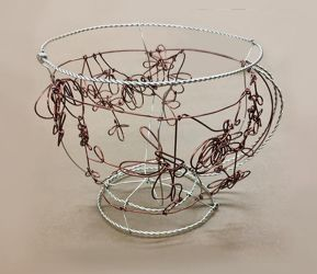 Tea Cup Wire Sculpture by LadyLore3