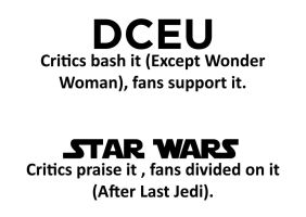 Is Star Wars becoming the new DCEU ? by JMK-Prime