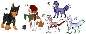 Dog designs adopts by Shadow-at-Nightfall