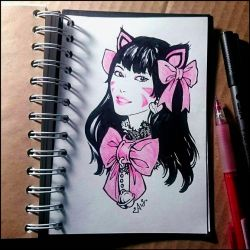 Instaart -  Black Cat D.Va by Candra