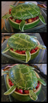 Watermelon Sea Turtle by Ti-7-4Raven