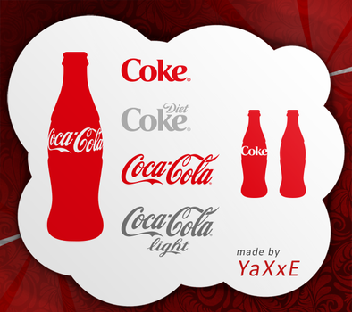 Coca Cola Shape Set by yaxxe