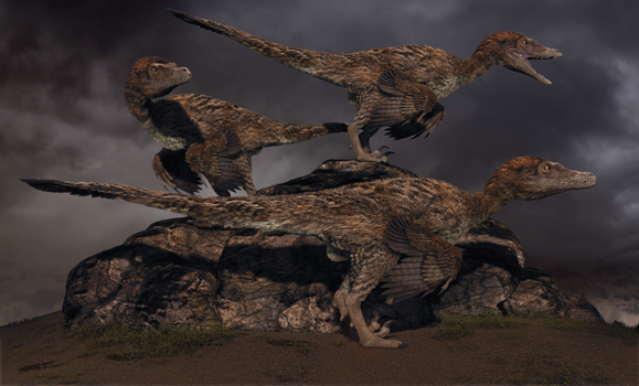 Cretaceous Desert Storm by ADigitalArtist