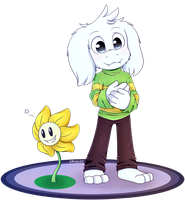Flowey|Asriel by Blacky-Doll