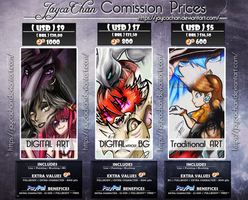 [MENU] COMMISSIONS Prices table [POINTS/ PAYPAL] by JaycaChan