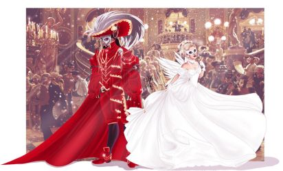...Red Death and Angel... by Ax25