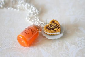 Eat Me Drink MeNecklace Orange by YourSweetTreat