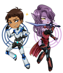 Voltron chibs by AleineRoe