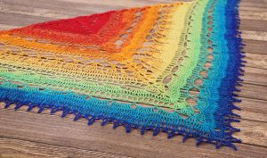 Rainbow Color Flow Shawl by dsgngrl