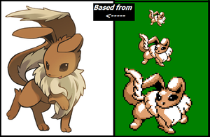 Fun Sprite- Gen 1 Style Normal Type Eeveelution by Pioxys