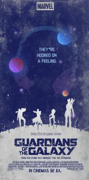 Guardians of the Galaxy - Minimalist Poster by ChipsEss0r