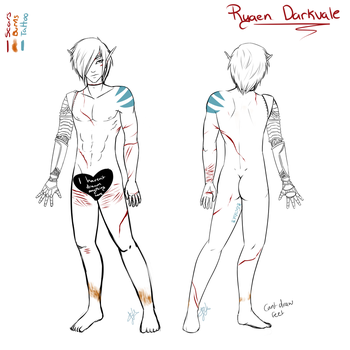 Ryaen - Full Body, No Armour Reference by Zyvian