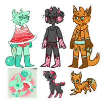 Refs For my anthros by evillovebunny500