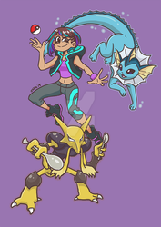 My Gymsona: The Water/Psychic Gym by Infinite-Stardust