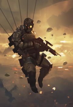 SpeedPaint_Paratrooper by Balance-Sheet