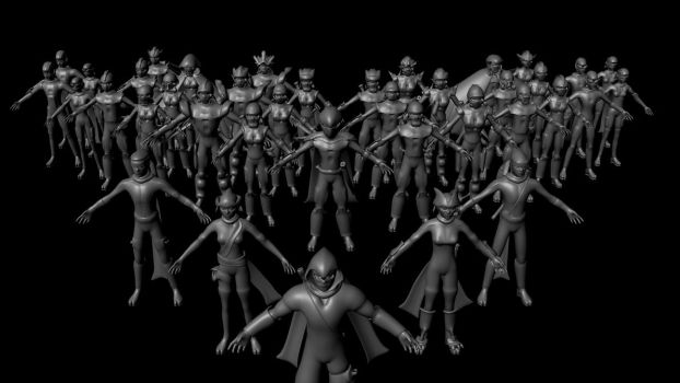 3D Models of XNinjas, WIP by XNinjaRed