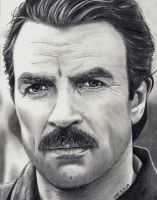 Tom Sellick by Doctor-Pencil