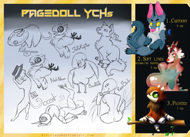 Pagedoll YCHs [OPEN] by kr1st1naa