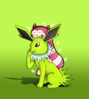Jolteon and Furret