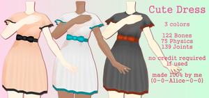 MMD Cute Dress DL by 0-0-Alice-0-0