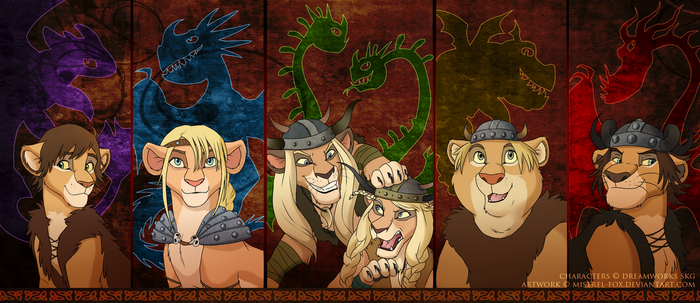 Riders and Defenders of Berk by Mistrel-Fox