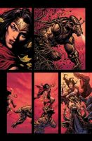 Wonder Woman Rebirth page by LiamSharp