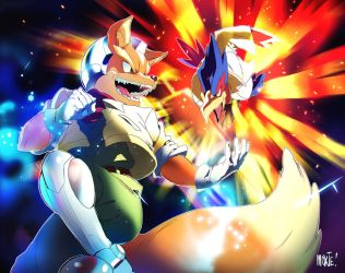 Super Smash Calendar 2017 | Fox and Falco by moxie2D