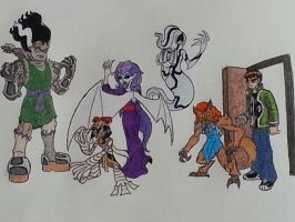 Ben 10 and the Alien'd Ghouls by Holycrap1992