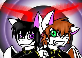 Lelouch and Suzaku dragons. by DuskDragonXIII
