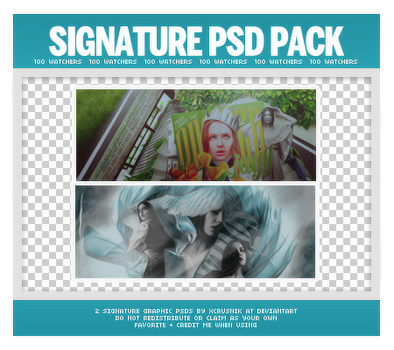 Duo Signatures PSD Pack (100 Watchers) by xcrusnik