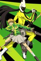 Persona 4: Chie and Tomoe by sethwhite117