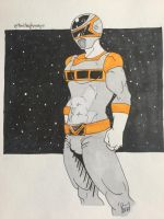 Zayne the Silver Space Ranger  by TheBlaQkMagE
