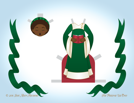 December Angel Paper Doll - Outfit 3 by juliematthews